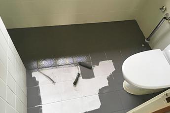 maling af badeværelsesgulv