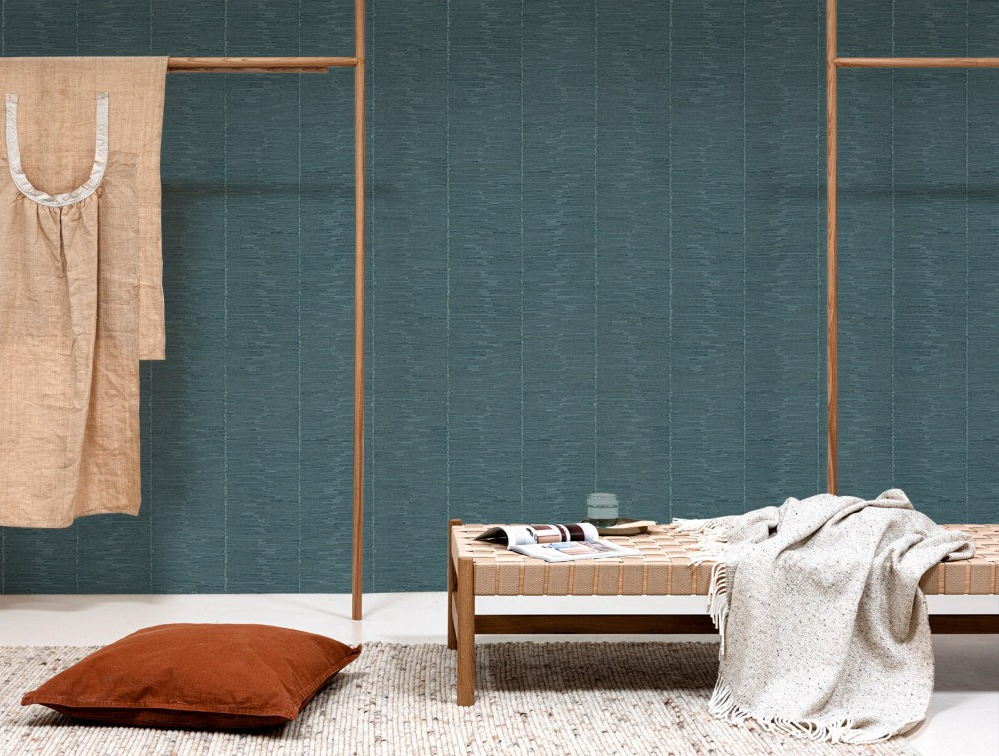 Rustic Bamboo - Dusty Blue